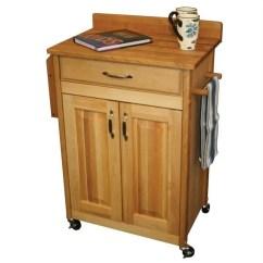 Catskill Craftsmen Kitchen Island Home Styles Monarch Deluxe Butcher Block Cart 61532