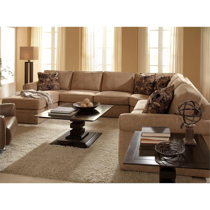Broyhill Veronica Upholstered LAF Chaise Sectional Sofa in
