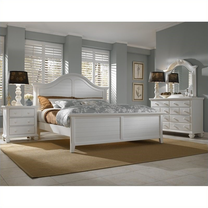Broyhill Mirren Harbor Arched Panel Bed 4 Piece Bedroom