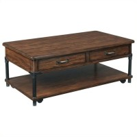 Broyhill Saluda Rectangular Cocktail Table in Warm Oak ...