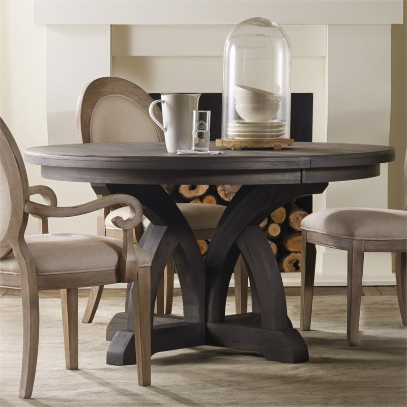 Hooker Furniture Corsica Round Extendable Dining Table in