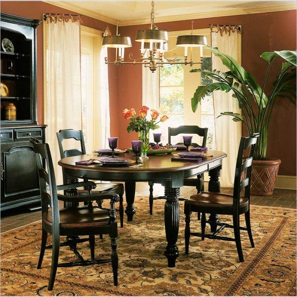 Hooker Furniture Indigo Creek Oval Dining Table In Rub