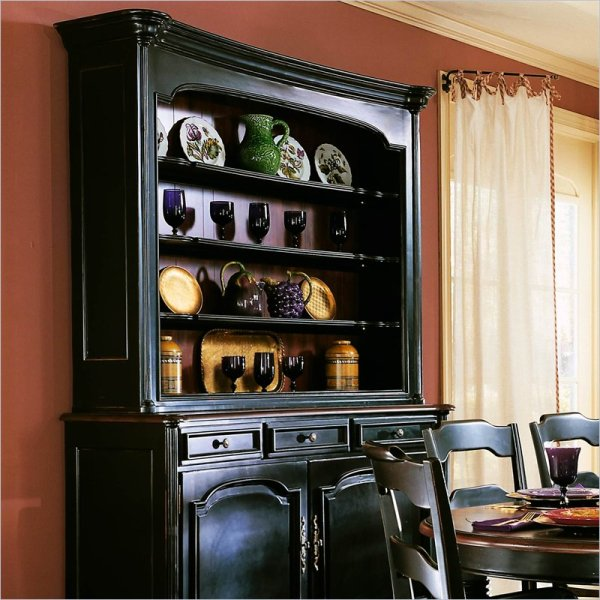 Black Dining Room Hutch Furniture
