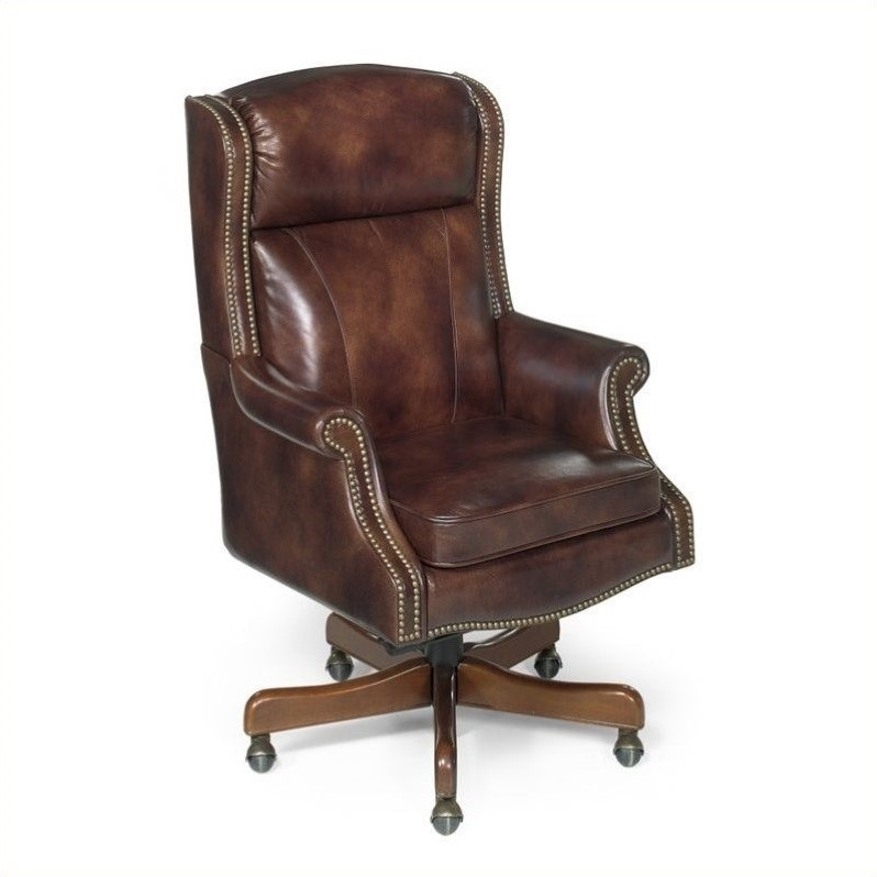 leather executive office chair 6 dining chairs and table hooker furniture seven seas in empire byzantine ec216