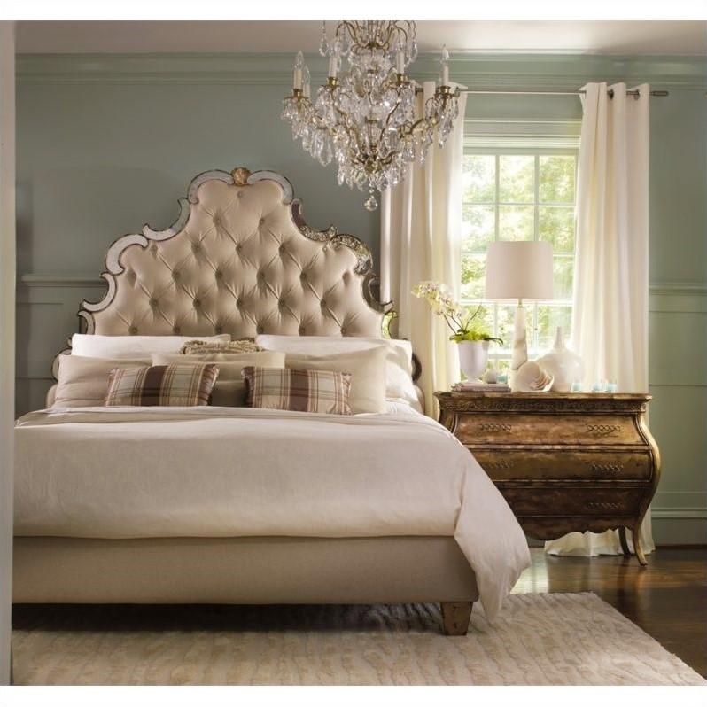 Hooker Furniture Sanctuary 5 Piece Tufted Bed Bedroom Set