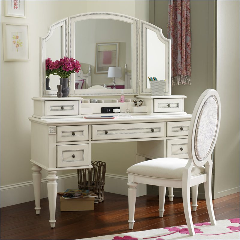 kidkraft avalon chair covers guineys hooker furniture opus designs claire vanity desk with hutch and mirror set in white - orgoo kids ...
