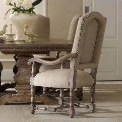 Upholstered Arm Dining Chair Clear Vinyl Room Covers Hooker Furniture Sorella In Warm Brown 5107 75500