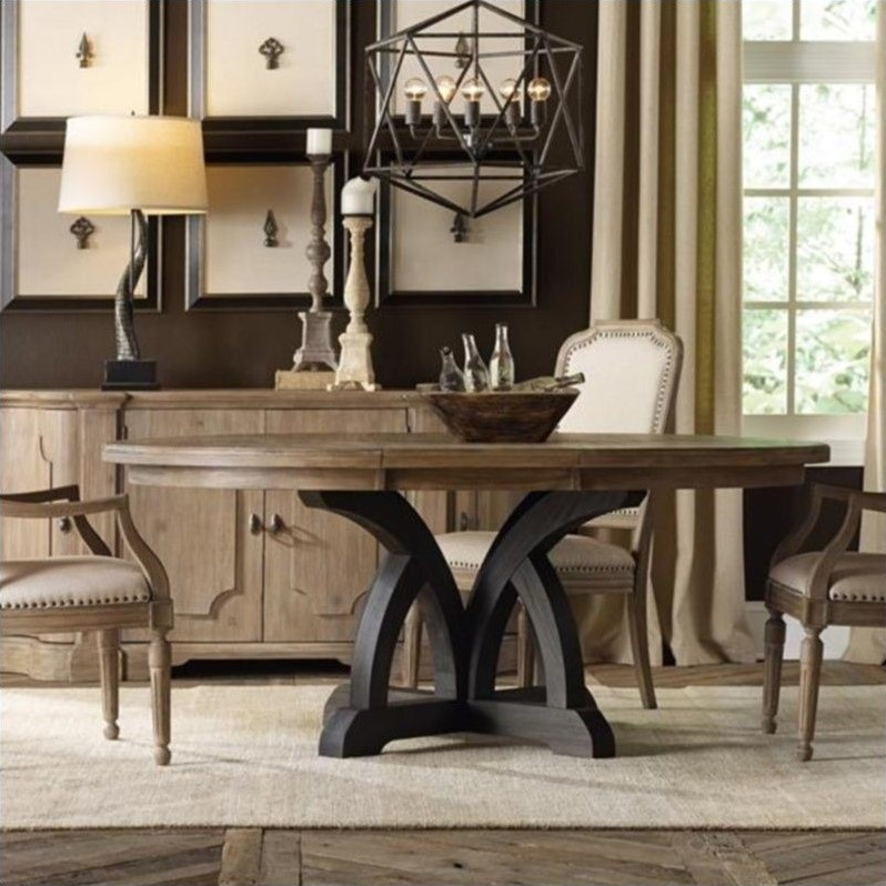 Hooker Furniture Corsica 54 Round Dining Table With 18 Leaf 5280 75213