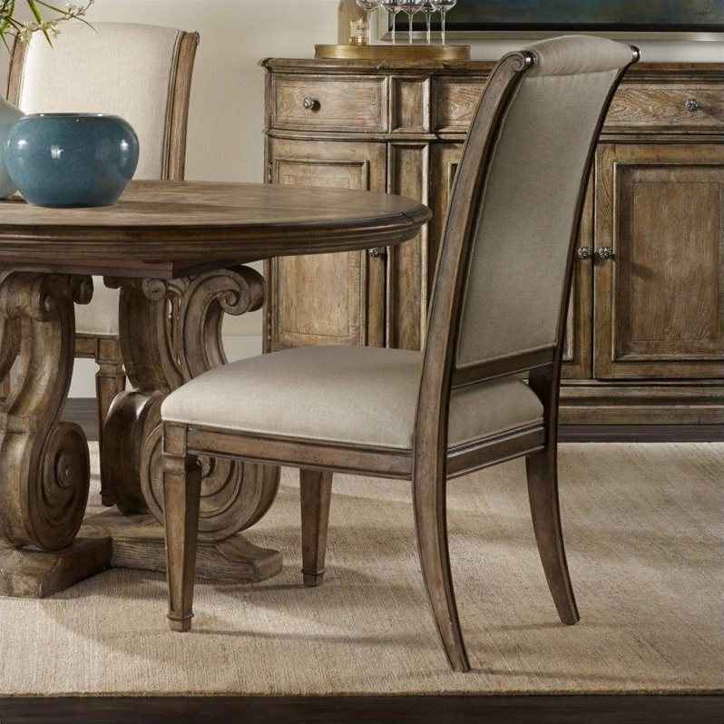 light oak dining chairs zero gravity reviews hooker furniture solana upholstered chair in 5291 75510