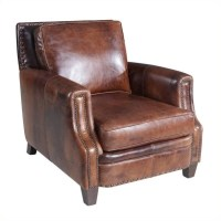 Hooker Furniture Leather Stationary Chair in Parthenon ...