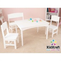 KidKraft Nantucket Table with Bench and 2 Chair Set - 26110