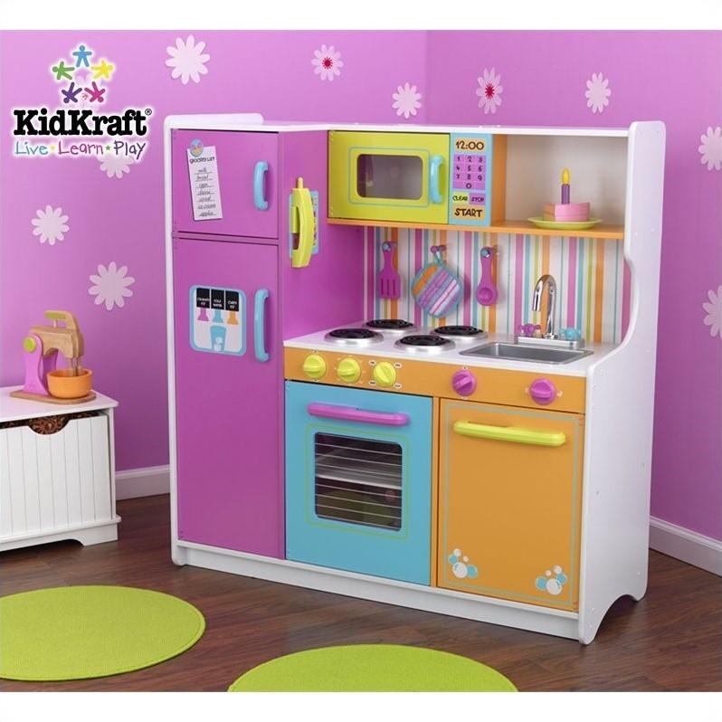 KidKraft Deluxe Big  Bright Kids Play Kitchen  eBay