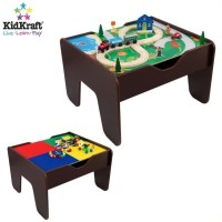 KidKraft 2-in-1 Activity Table with Lego and Train Set in ...
