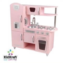 Toy Kitchen Sets Square Faucet Kidkraft Vintage Play In Pink 53179