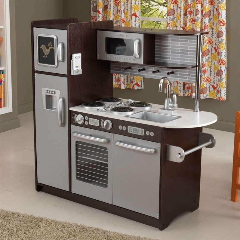 KidKraft Uptown Kitchen in Espresso  53260