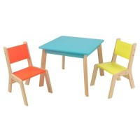 KidKraft Modern Table and 2 Chair Set in Multi-Color - 26322