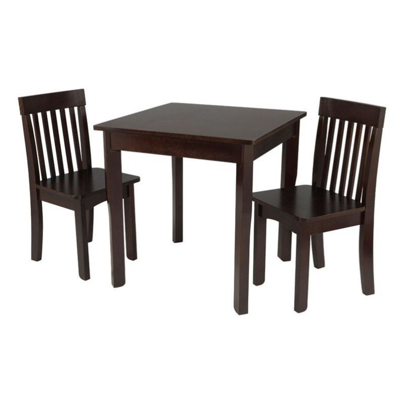 kidkraft avalon chair design pictures table and 2 chairs set in espresso - 26643