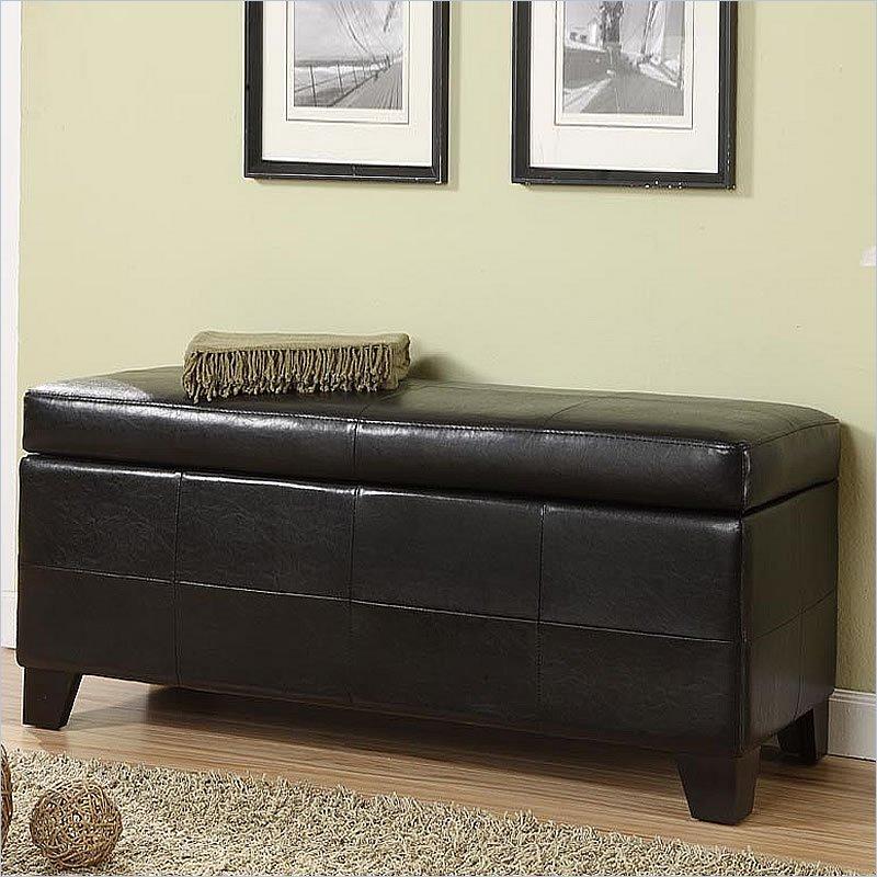 Modus Upholstered Milano Blanket Storage Bench Black