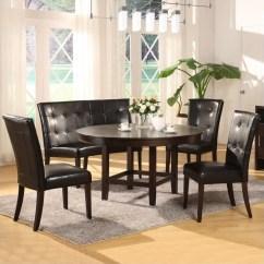 Bar Height Kitchen Table Sets Undermount Double Sink Modus Bossa 5 Piece 54 Inch Round Dining Set ...