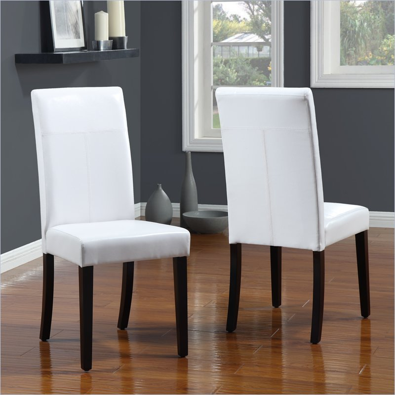 Modus Urban Seating Parsons Dining Chair in White