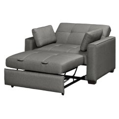 Twin Chair Sleeper Sofa Small Leather Accent Chairs Serta Gunny Size Dream Convertible In Gray - Se-gun-gr-set