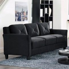 Microfiber Sofas Dark Brown Sofa Lifestyle Solutions Hartford In Black Cchrfks3m26bkva