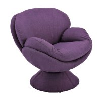 Mac Motion Comfort Chair Swivel Accent Chair in Purple ...