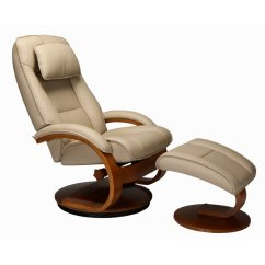 Leather Swivel Recliner Chair And Ottoman Classroom Organizer Covers Mac Motion Oslo In Cobblestone 52 L03 32 103