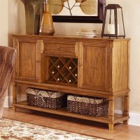 Coaster Parkins Buffet with Wine Rack in Dark Brown - 103715