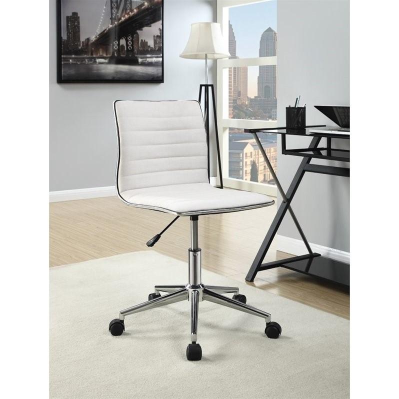 Coaster Sleek Office Chair in Cream and Chrome  800726