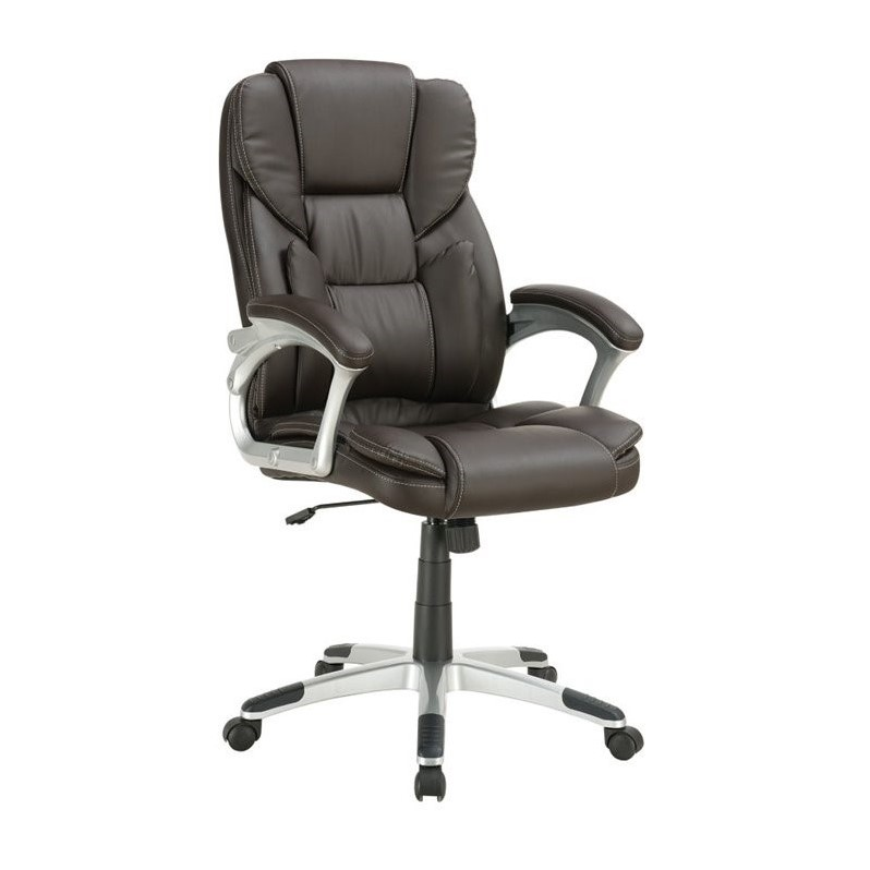 lumbar support office chair babies high coaster in brown 800045