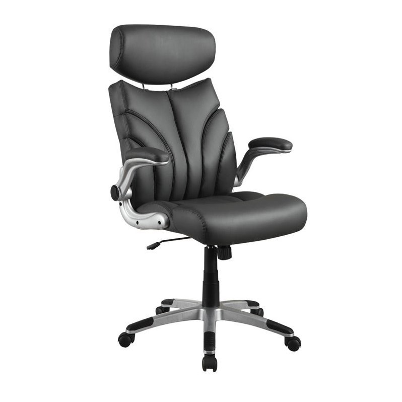 Coaster Contemporary Sleek Office Chair in Gray  800164