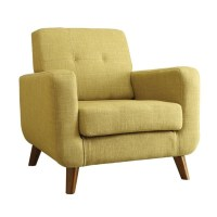 Coaster Mid Century Modern Accent Chair in Green - 902482