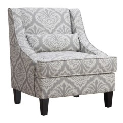Accent Chair Gray Countertop Table And Chairs Coaster Jacquard Pattern In White 902412