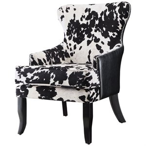 leopard print accent chair pottery barn kids chairs animal cymax stores coaster cowhide in black and white
