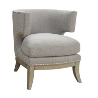 Coaster Barrel Back Upholstered Accent Chair in Gray - 902560