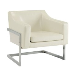 Modern Leather Accent Chairs Bean Bag Chair For Toddlers Coaster Contemporary With Metal Frame In White 902539