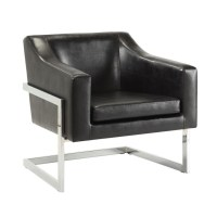 Coaster Contemporary Accent Chair with Metal Frame in ...