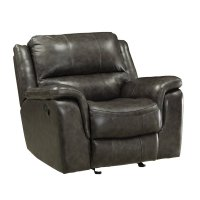 Coaster Wingfield Leather Recliner with Pillow Arms in ...