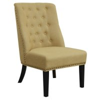 Coaster Upholstered Tufted Accent Chair in Yellow - 902497