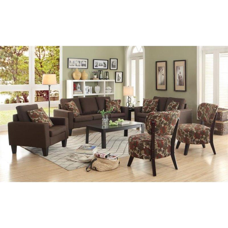 coaster bachman sofa reviews sofas e poltronas 3 piece fabric set in chocolate ...