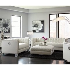 White Sofa Set Living Room Modern Furniture South Africa Coaster Chaviano 2 Piece Tufted In 505391 S2