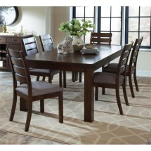 Coaster 5 Piece Dining Set In Stone Gray And Rustic Pecan