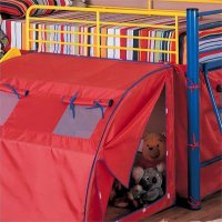 Coaster Kids Metal Twin Loft Bunk Bed with Slide and Tent ...