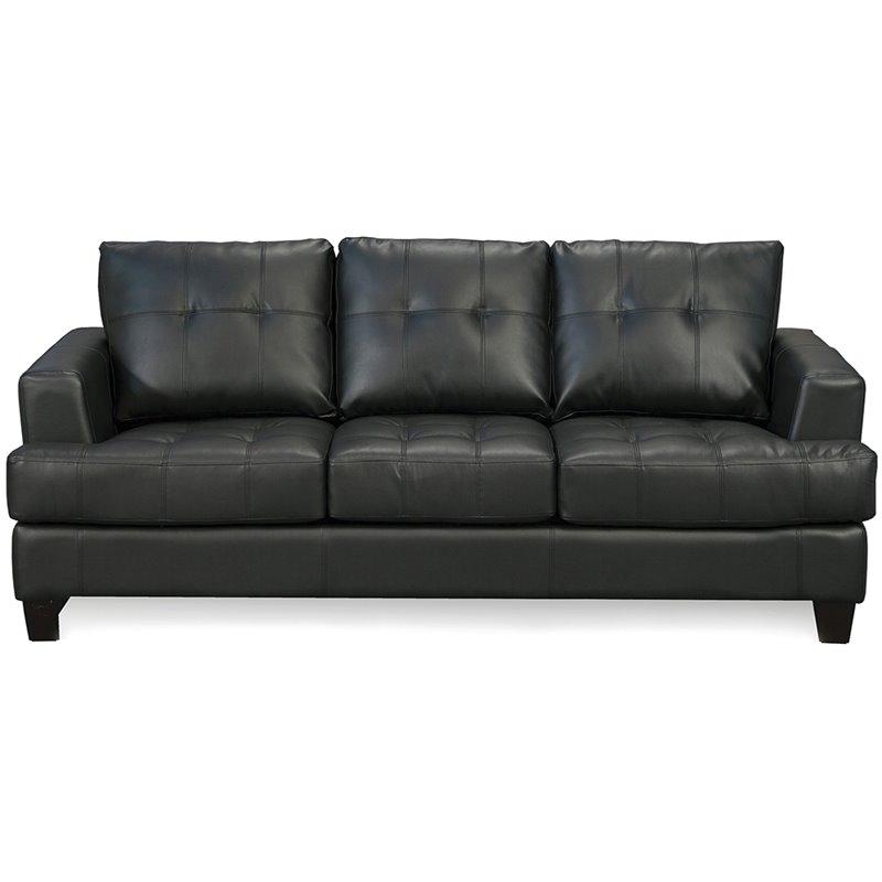 leather sofas cheap prices replacing sofa cushions uk coaster samuel black contemporary 501681
