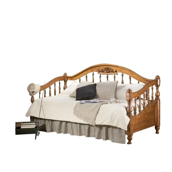 Wood Daybed with Trundle Pop Up