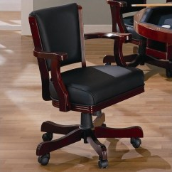 Poker Table Chairs With Casters College Bean Bag Coaster Mitchell Upholsted Arm Chair In Cherry 100202
