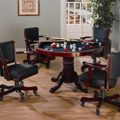 Poker Table Chairs With Casters Modern Leather Lounge Chair Coaster Mitchell 5 Piece 3-in-1 Game Set In Cherry - 100201-pkg