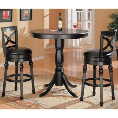 5 Piece Kitchen Table Sets Modern Design Coaster Lathrop Classic Round Pedestal Pub In Black ...
