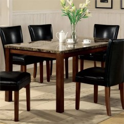 Tall Table And Chairs For Kitchen Cabinet Wood Coaster Telegraph Marble Top Rectangular Dining In ...